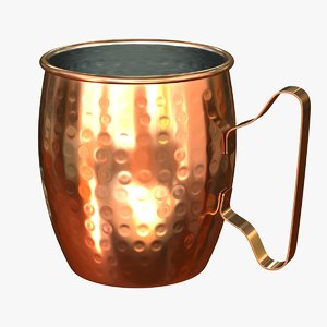 3D copper mug