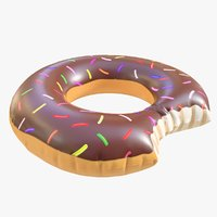 3D pool toy doughnut 11 model