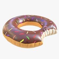 3D pool toy doughnut 11 model