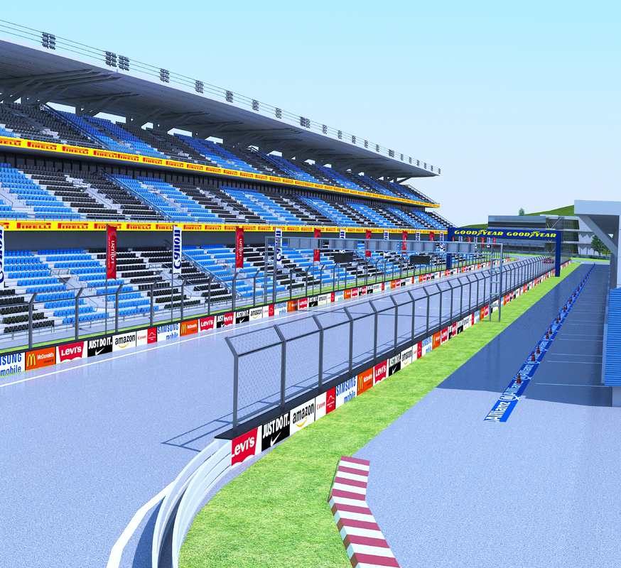3D car race track model