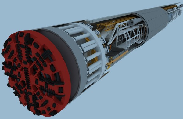 tunnel boring machine 3D
