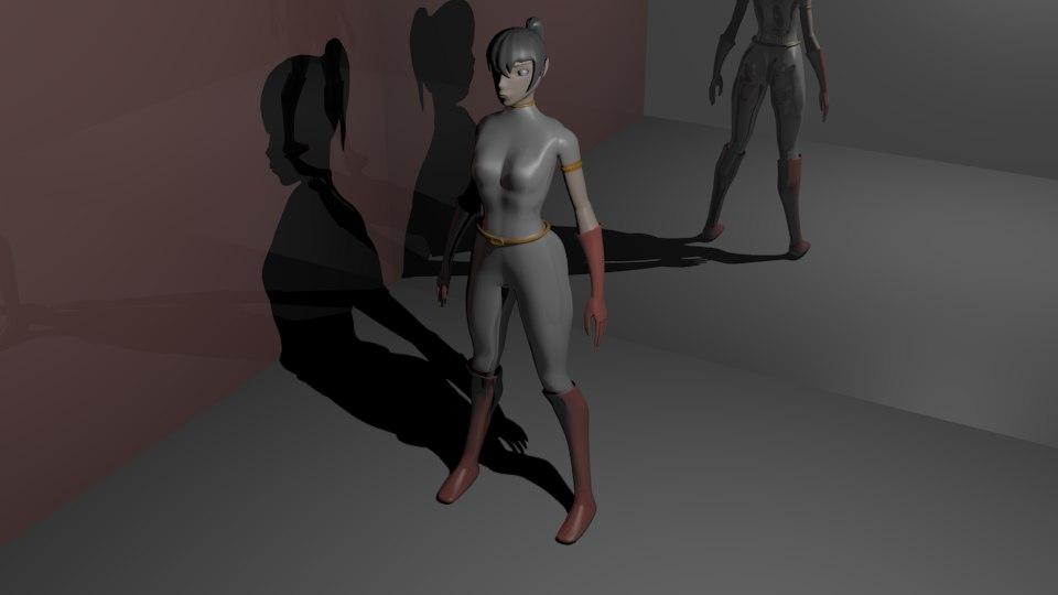3D space woman