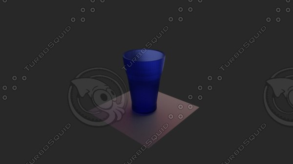 blue glass 3D model