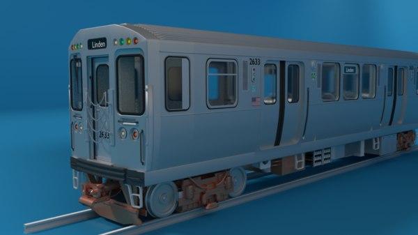 3D chicago l train series interior