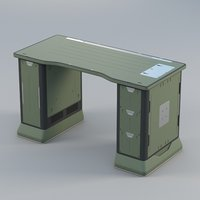 3D model sci-fi table v1