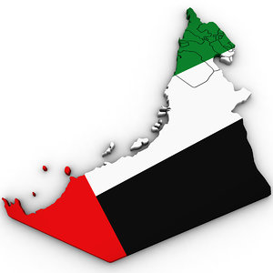 3D united arab emirates uae model