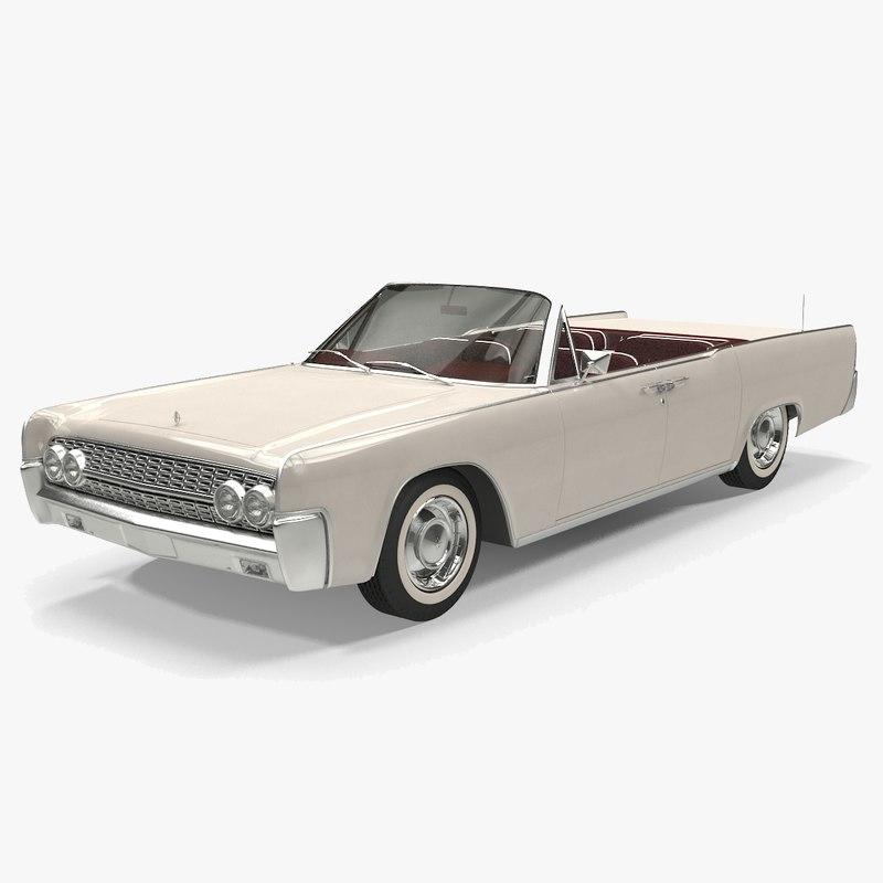 continental convetible 1962 3D