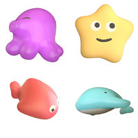 Plastic bath toys for babies sea themes