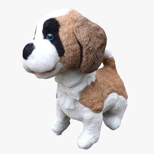 3D stuffed dog games model
