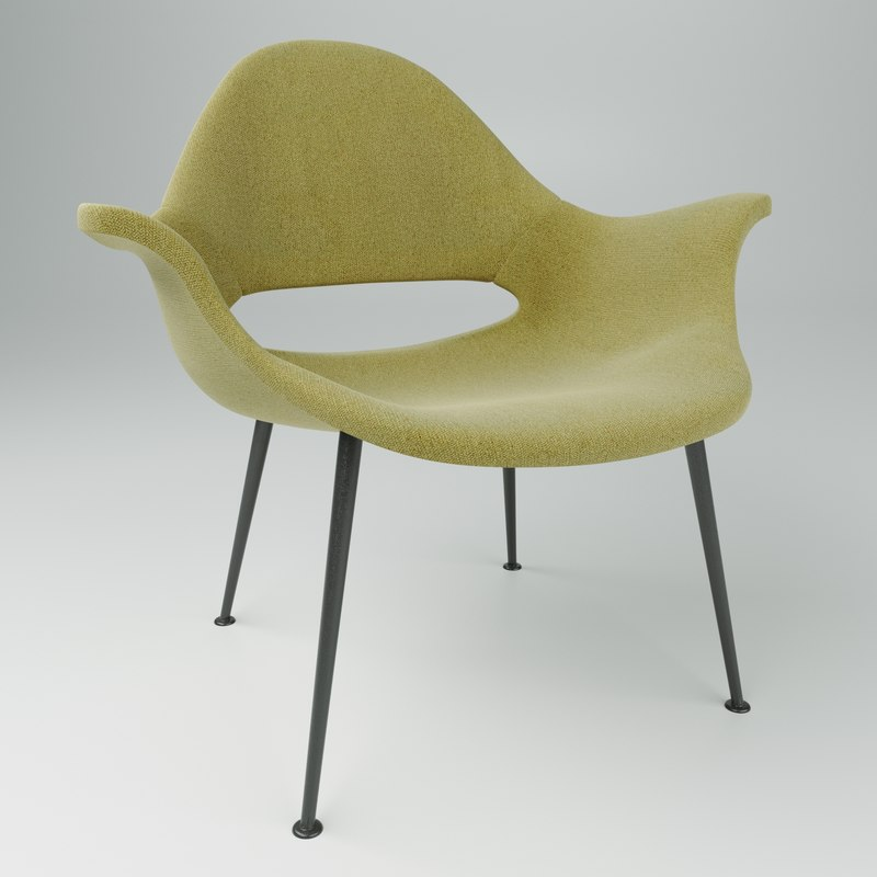 3D model armchair conversation a3501 charles eames