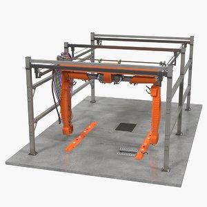 automatic carwash generic car wash 3D model