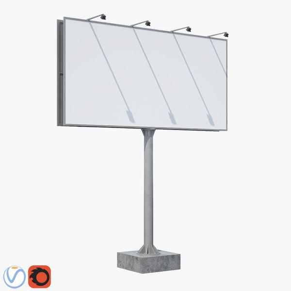 3D billboard board