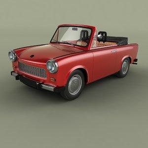 3D 1965 trabant 601 cabriolet