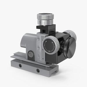 3D optical sight rifle scope model