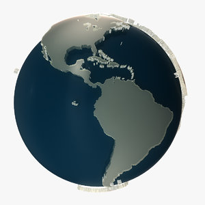 3D glass earth