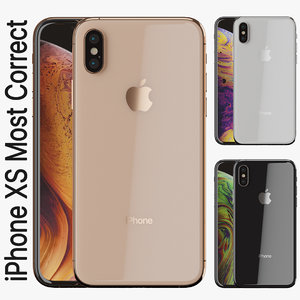 accurate apple iphone xs 3D model