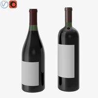 3D red wine
