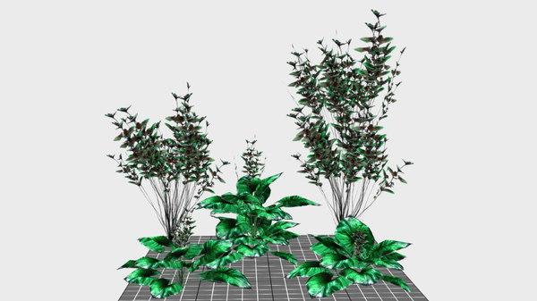 3D model mobile bush