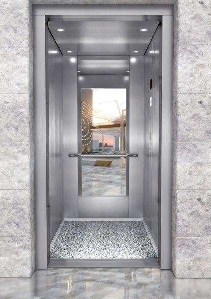 3D elevator interior