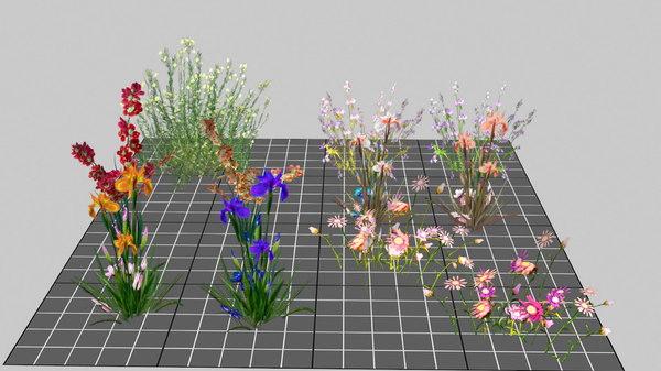 plant flower bush 3D model
