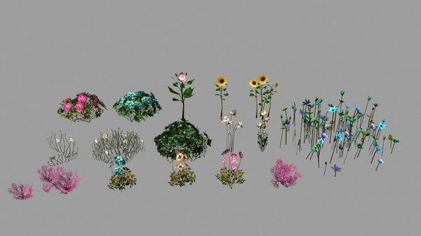 3D mobile flower
