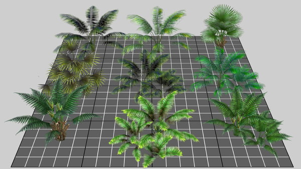 mobile tropical 3D model