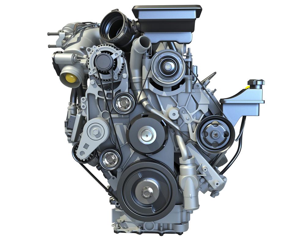 3D v8 turbo engine