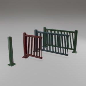 3D harbor railing ready - model