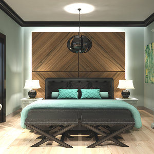 3D hotel room