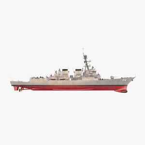 uss bulkeley ddg 3D model