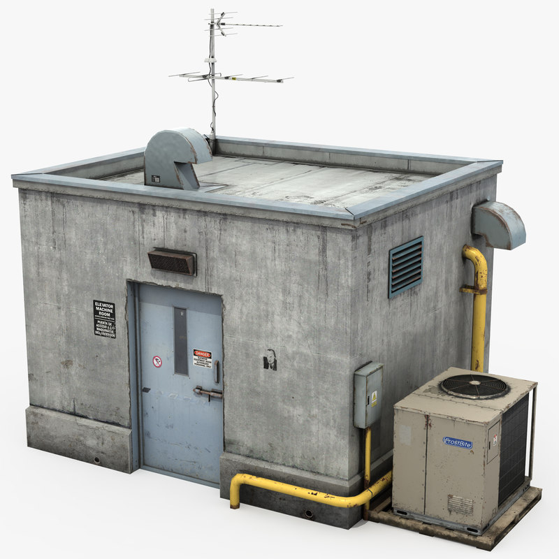 3D model rooftop elevator