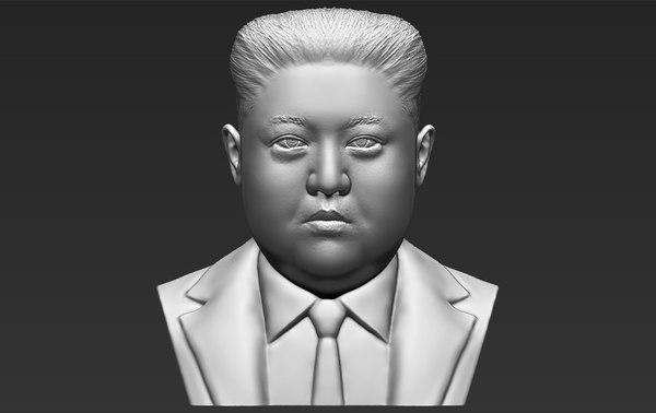 kim jong-un bust ready 3D