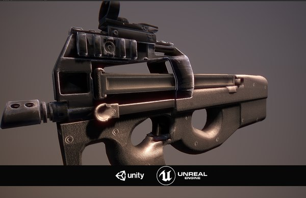 3D p90 unreal unity model