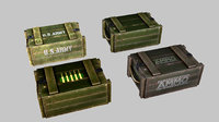 ammo crate set 3D model