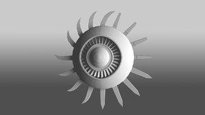 shield engine blades 3D