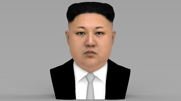 3D kim jong-un bust ready