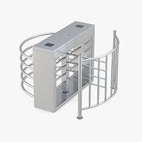 turnstile gate barrier 3D model