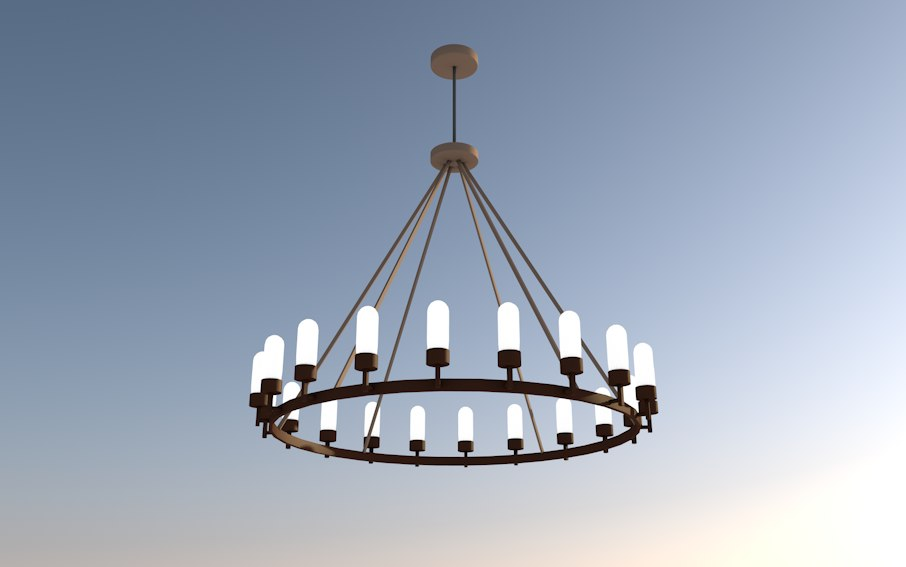 3D chandelier hanging light fixture