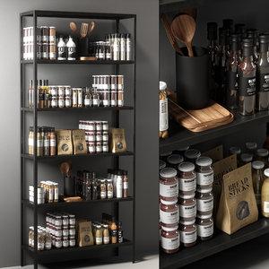 3D kitchen decor set