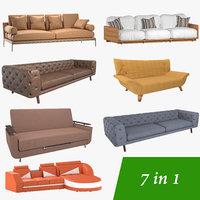 sofas 7 3D model