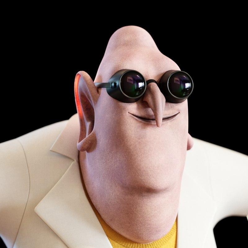 3D model doctor nefario character