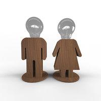 lamp man-woman 3D