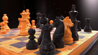 Wooden Chess on table
