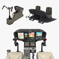 helicopter control panels 2 model