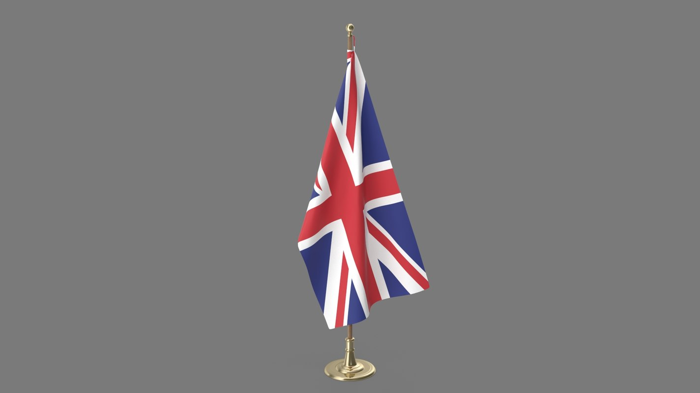 united kingdom office flag 3D model