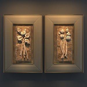 decorative bas-reliefs 3D model
