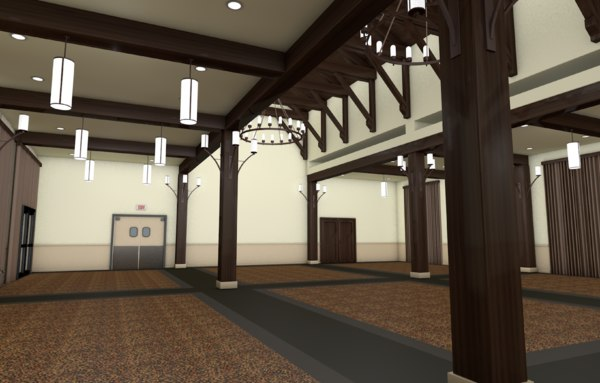 Banquet Hall 3D Models for Download | TurboSquid