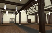3D banquet hall
