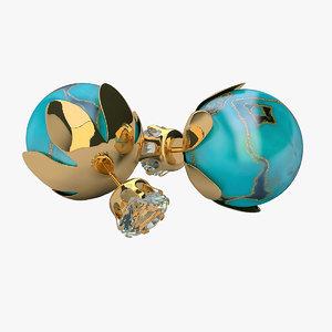 3d model earrings t