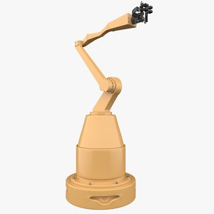 generic industrial robotic arm 3D model